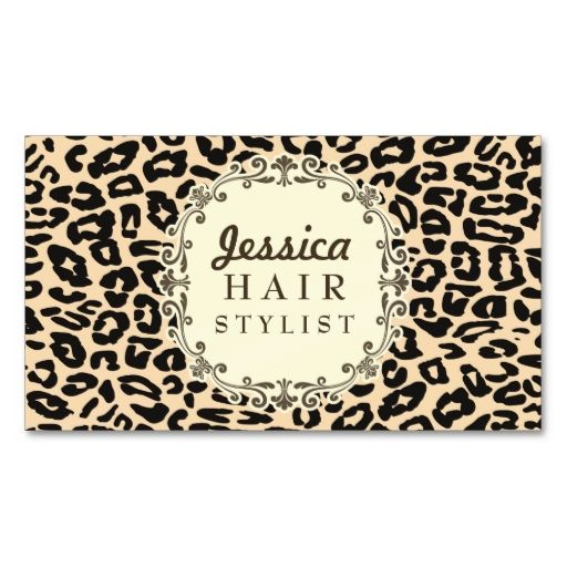 Cream leopard print hair stylist appointment cards leopard print cream leopard print hair stylist appointment cards business card templates this is a fully customizable reheart Image collections