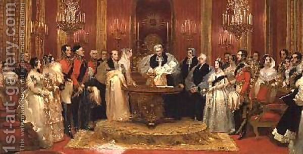 Christening Of The Princess Royal Painting By Charles Robert Leslie Reproduction 1st Art Gallery Queen Victoria Children Royal British Art