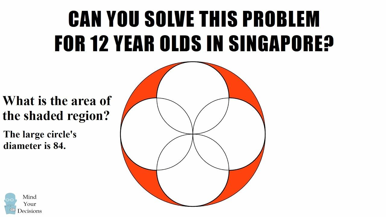 Can You Solve This Problem For 12 Year Olds In Singapore? 4 ...