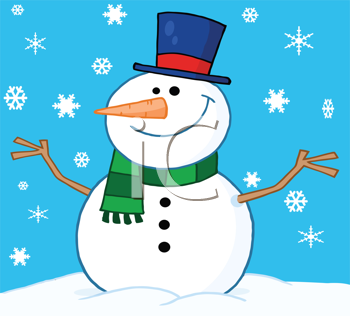 Iclipart Royalty Free Clipart Image Of A Cartoon Snowman Free Clipart Images Royalty Free Clipart Snowman