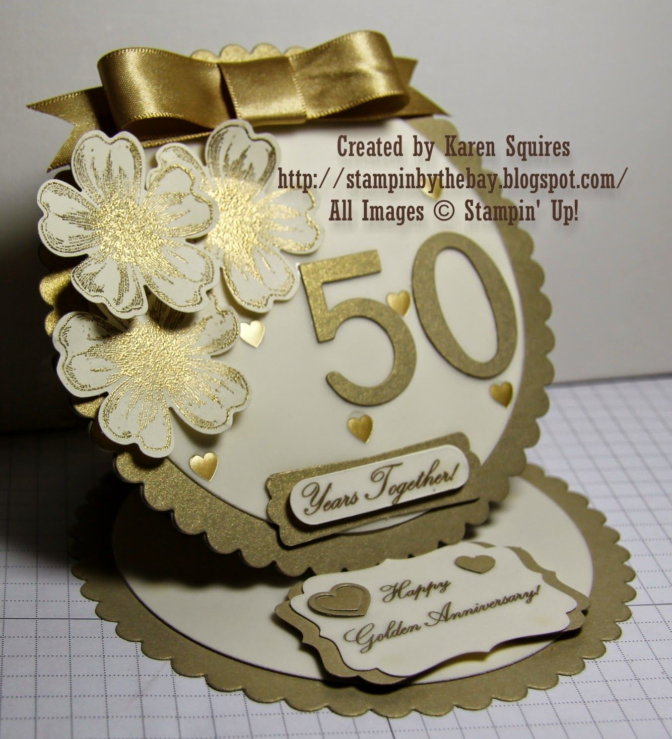 Stampin' By The Bay Happy 50th Wedding Anniversary Mom