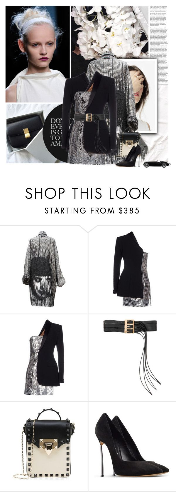 """""""Untitled #277"""" by cheetahsorcashmere ❤ liked on Polyvore featuring Jean-Paul Gaultier, Maison Margiela, Valentino, Casadei, women's clothing, women's fashion, women, female, woman and misses"""