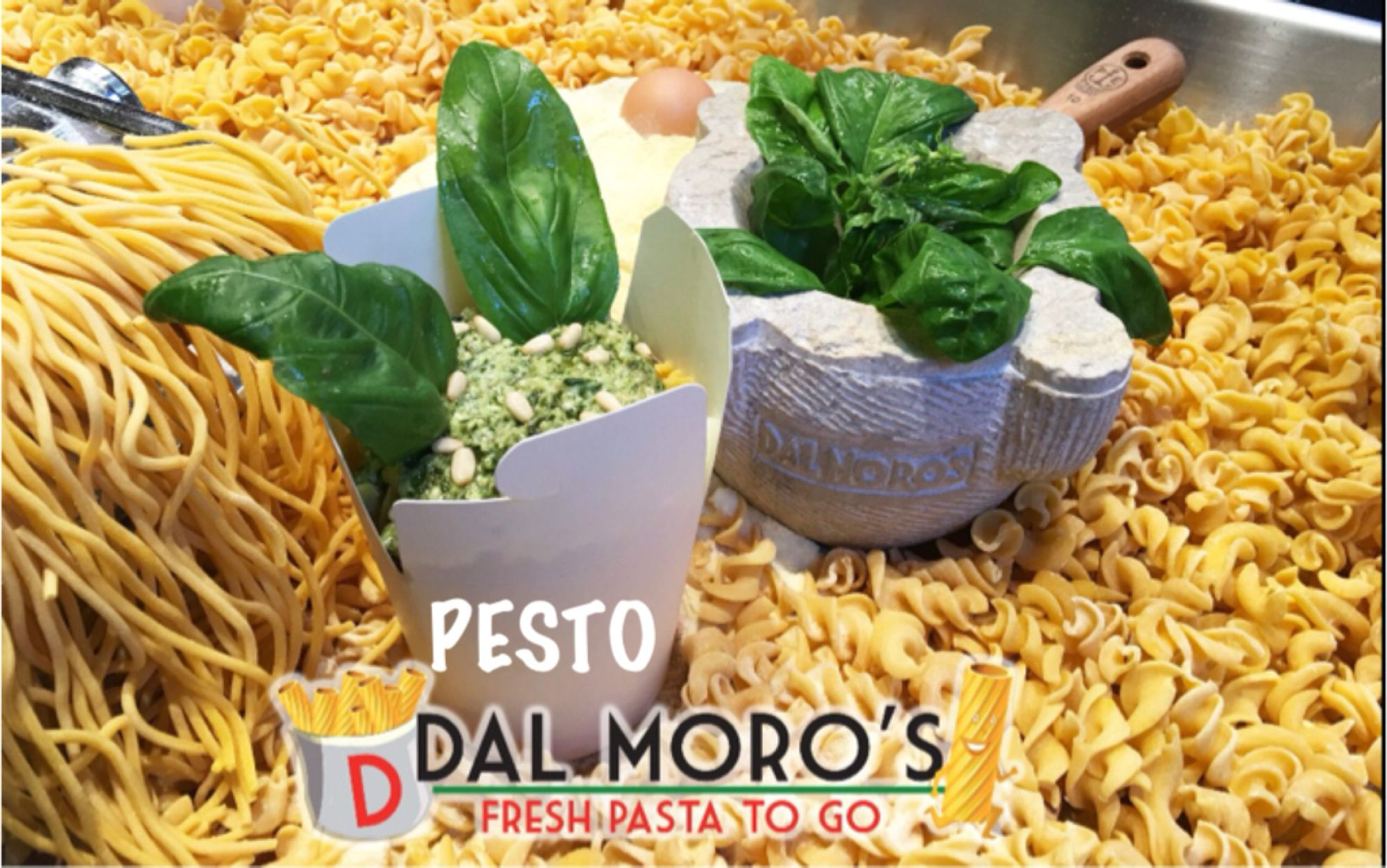 Our Pesto Sauce Now available at: Dal Moro's - Fresh Pasta To Go