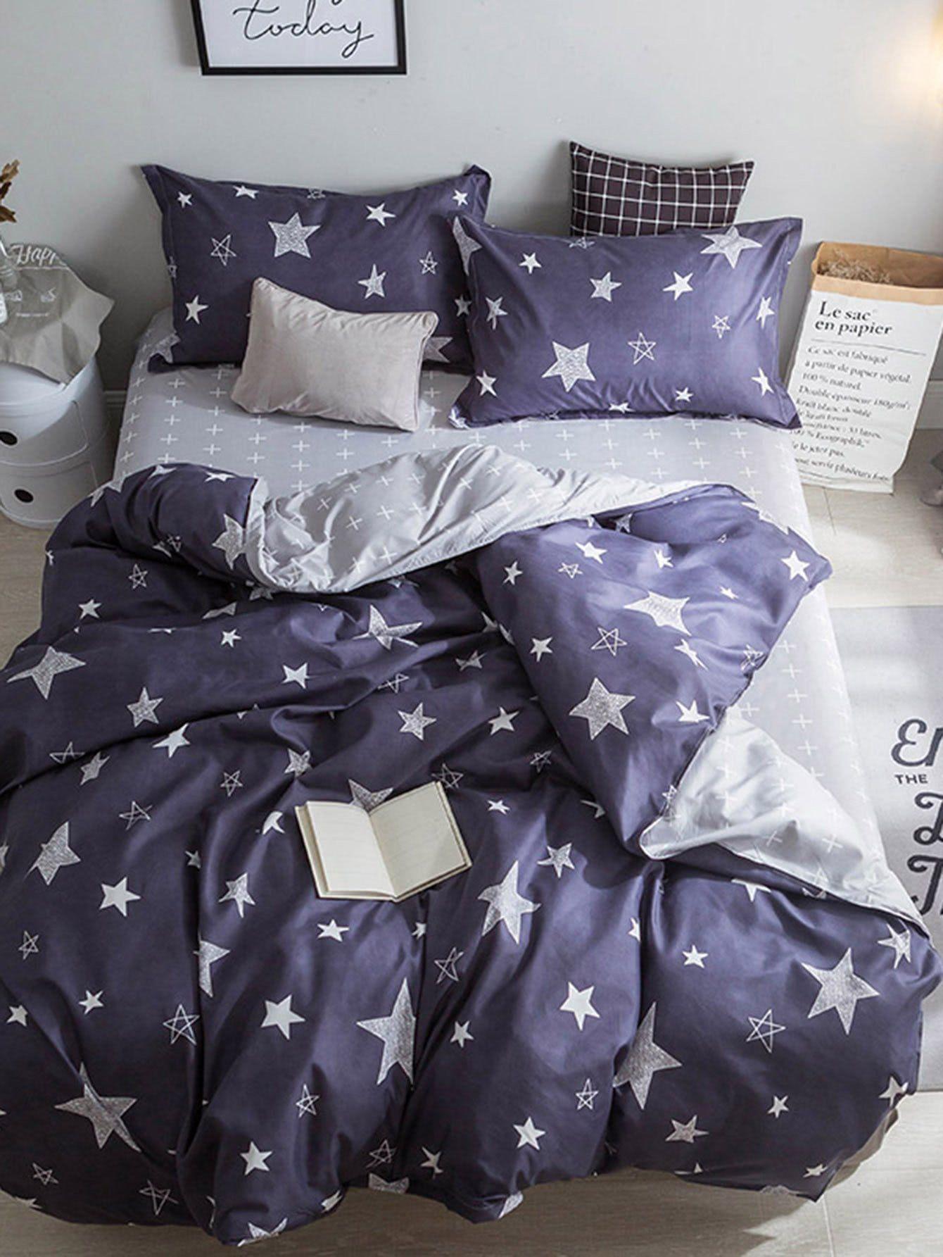 27e6165548 Star Print Duvet Cover Set   Bedroom   Duvet cover sets, Duvet ...