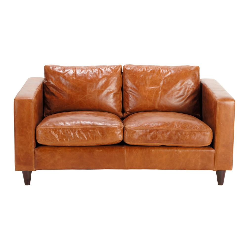 Vintage Sofa 2 Sitzer Aus Leder Camelfarben Henry Avec Images Canape Vintage