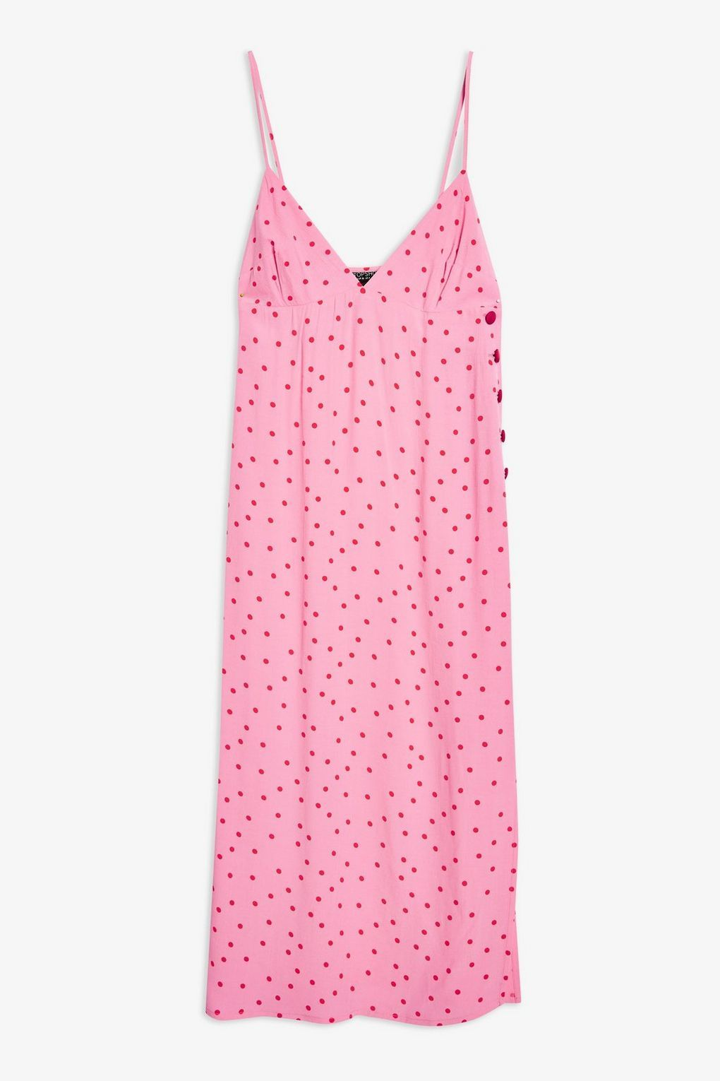 c0801582a712 Red and Pink Spot Slip Dress - Dresses - Clothing - Topshop