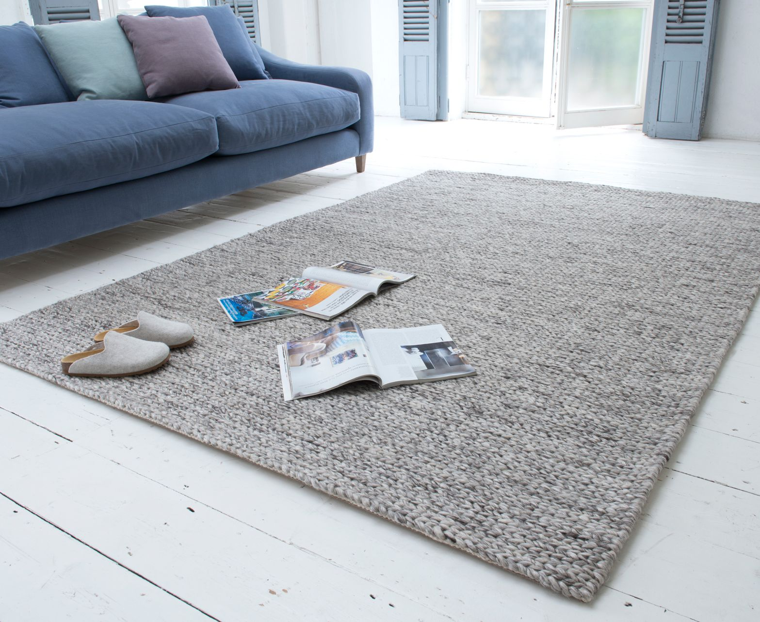 Loaf S Chunky Knit Yarn Rug Is Handmade In Varansai India