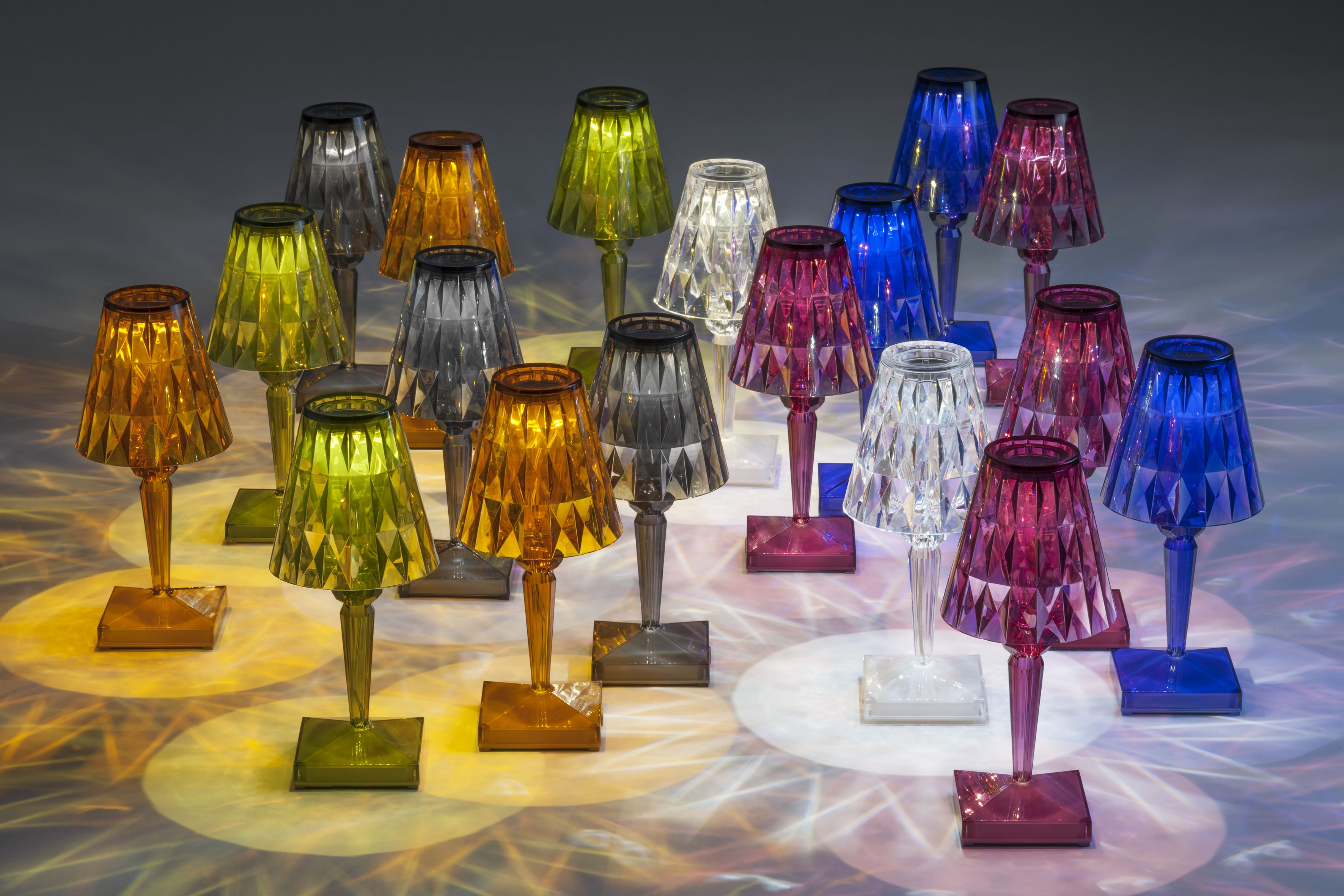 battery lighting solutions. Kartell Battery Lamp Shade By Ferruccio Laviani, Pack Of Transparent Green Lighting Solutions C
