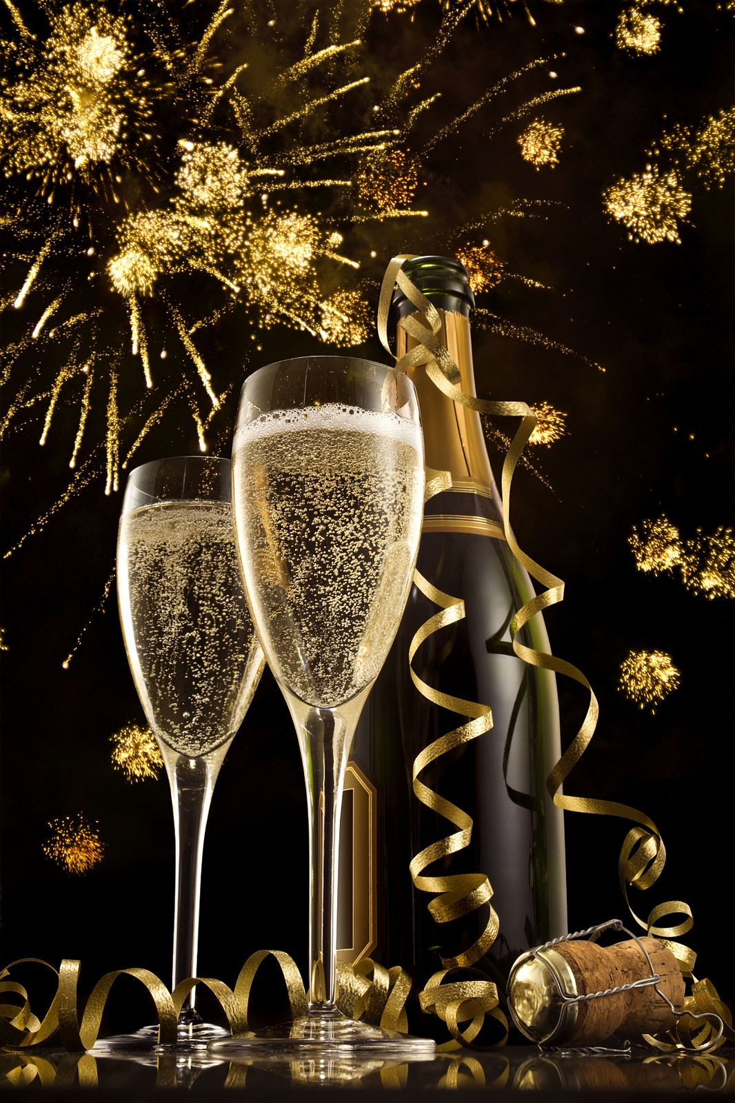 Champagne Happy new year gif, Happy new year images, New