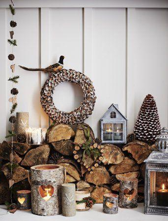 simple christmas decorations decoracin rustica casas de campo