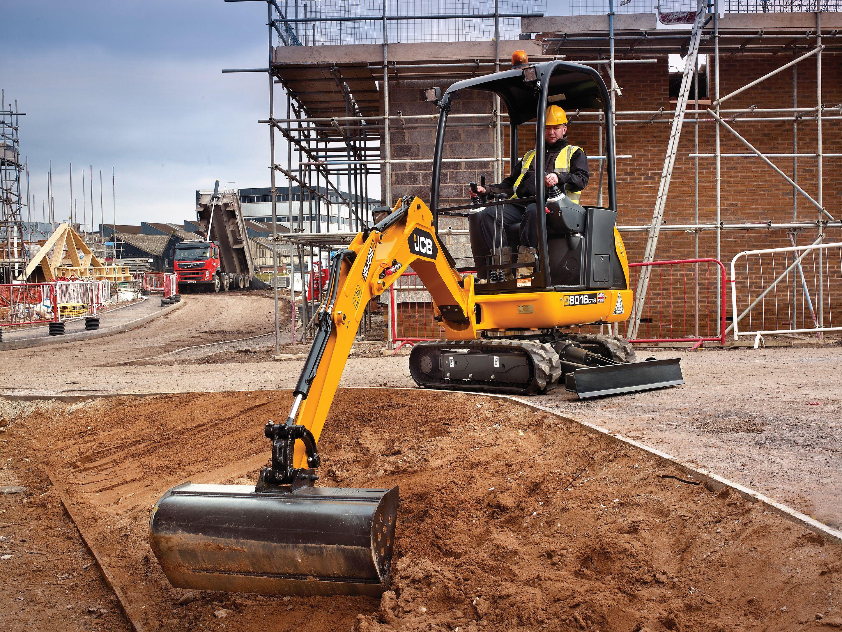 jcb 8016 mini excavator excavator and loader pinterest tractor