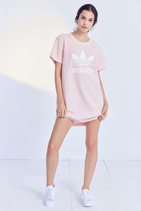aeb80cad36e Slide View  4  adidas Originals Trefoil Oversized T-Shirt Dress ...