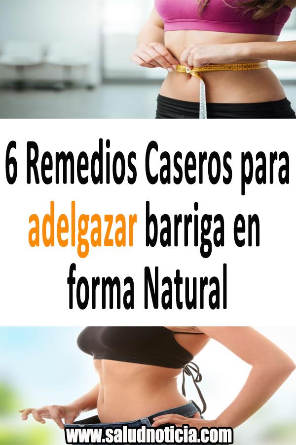 Remedios para adelgazar abdomen