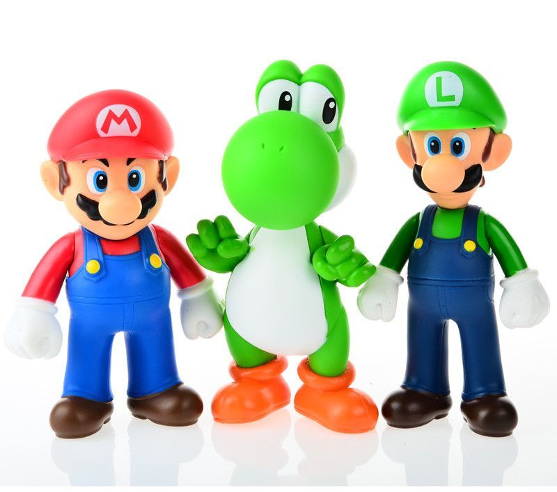 3pcs, BOHS Super Mario Bros Mario Yoshi Luigi PVC Action Figure Collection Model Toys Dolls
