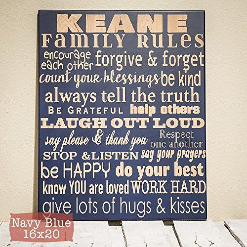 Family Rules Sign Personalized Wood Engraved Family Decor Anniversary Gift Personalized Family Family Rules Sign Family Rules Personalized Family Rules Sign