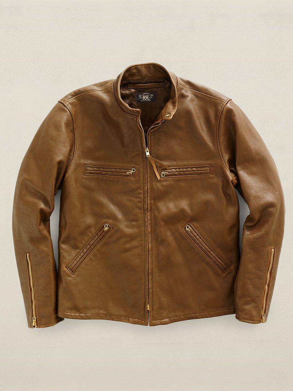 Leather Knowles Jacket. 1960sinspired motorcycle jacket
