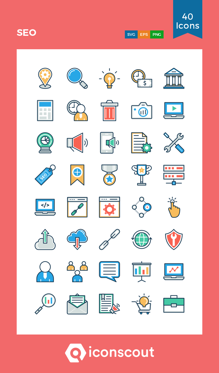Download SEO Icon pack Available in SVG, PNG, EPS, AI