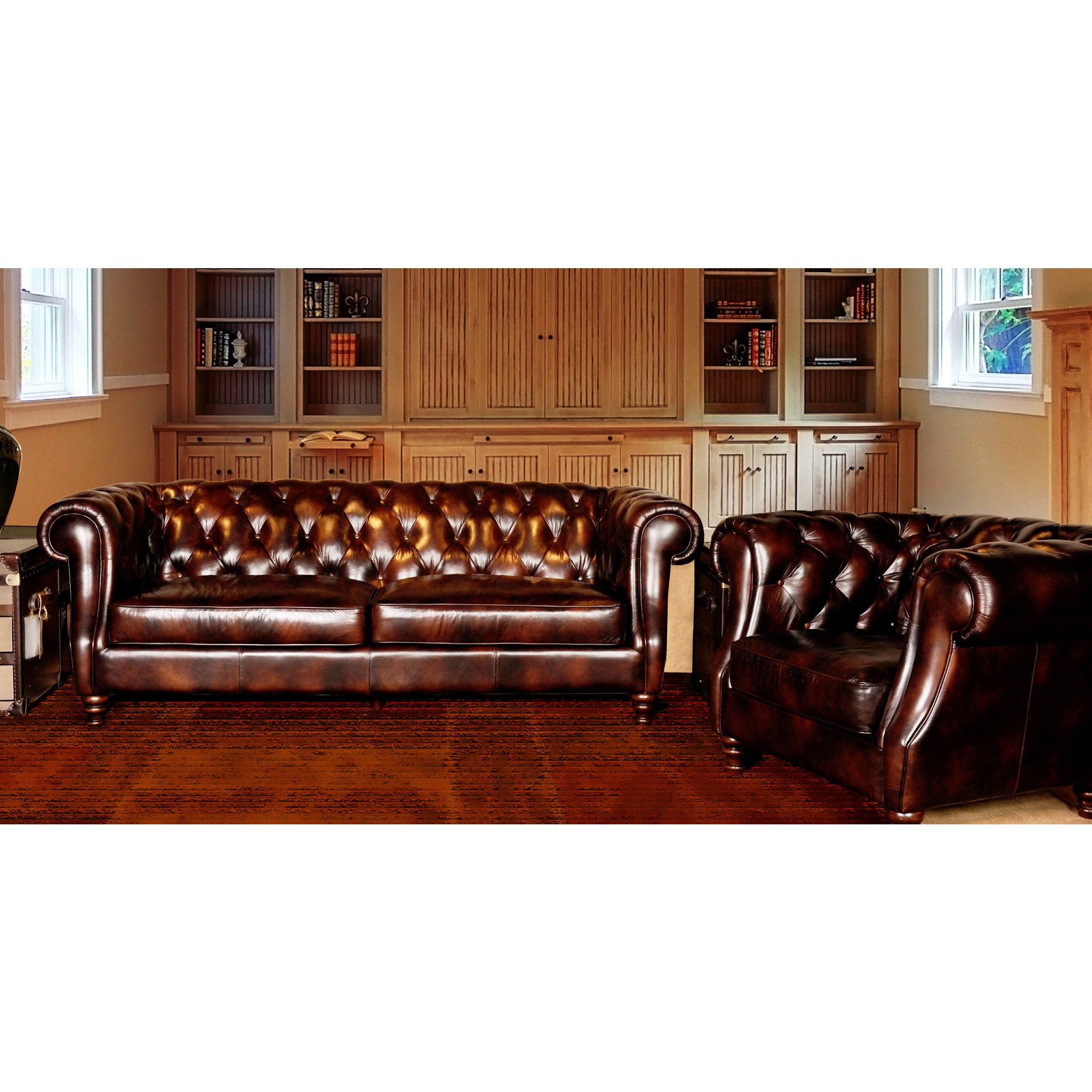 Antique 19thc Leather Chesterfield Sofa Drop Arm Hand   Full Tacked  Restoration 1900 1950 Photo | Couches | Pinterest