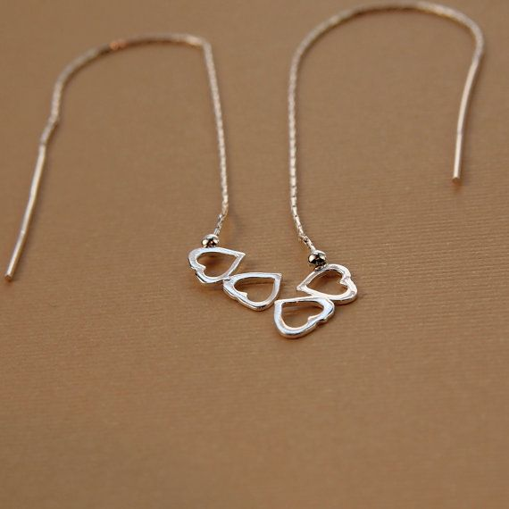 Pretty Hearts Sterling Silver Threader by GaHooleTreeSupplies