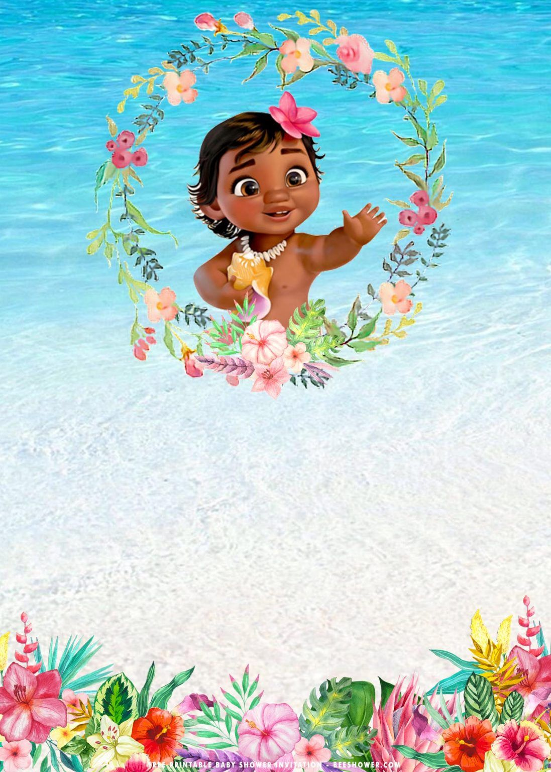Free Printable Baby Moana Baby Shower Invitation Templates Free Printable Bab Moana Birthday Invitation Baby Shower Invitation Templates Moana Invitation