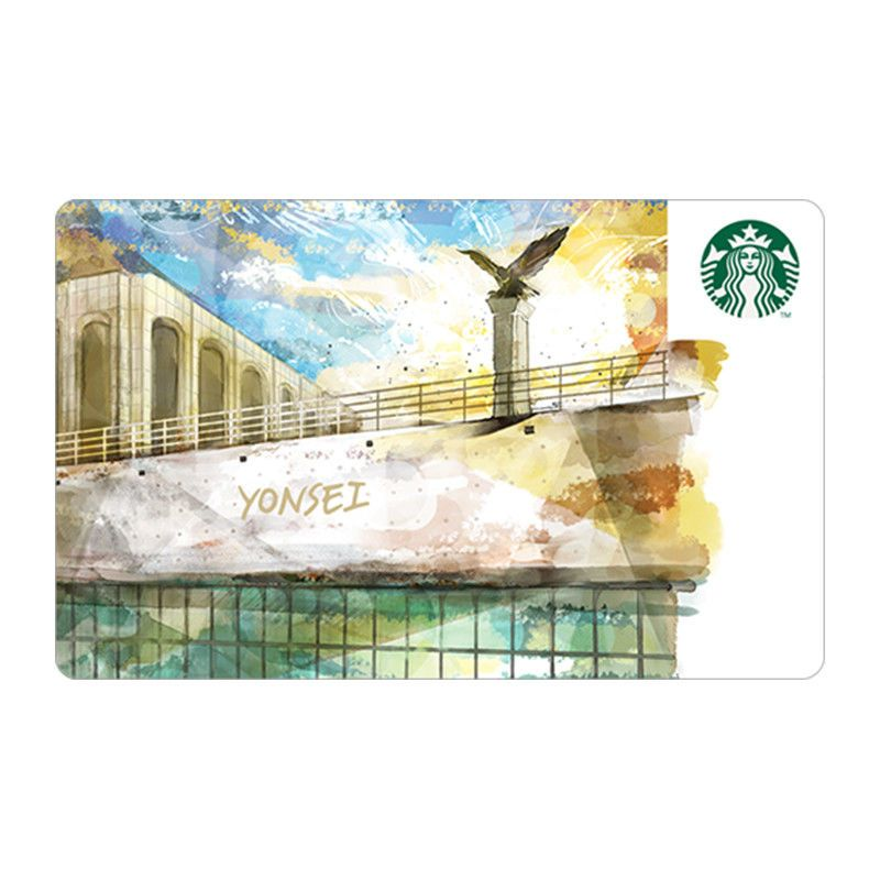Starbucks card coffee korea 2018 yonsei university card