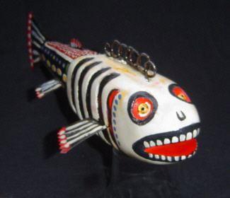folk art fishing decoy