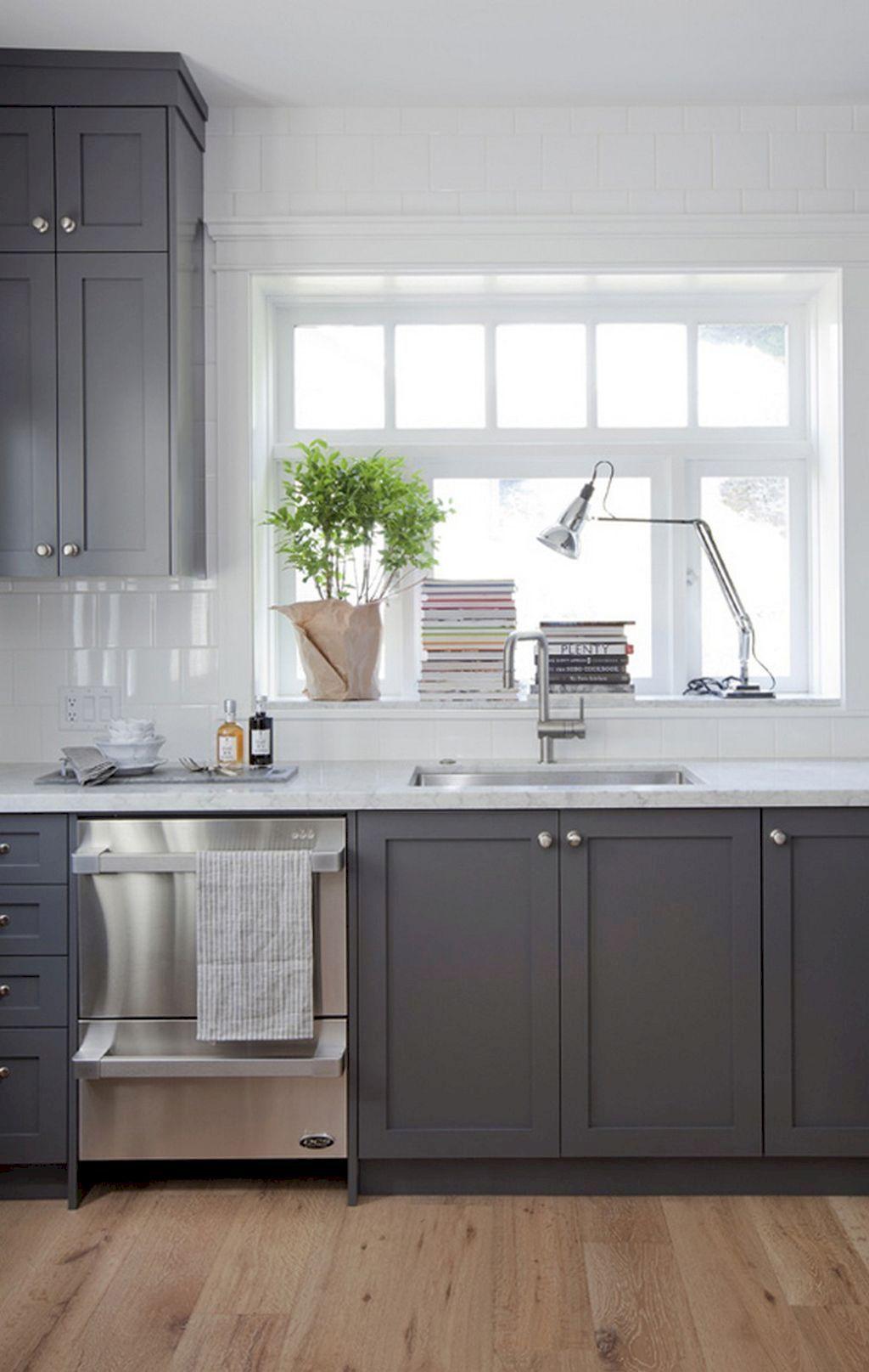 Best 30 Incredible Farmhouse Gray Kitchen Cabinet Design Ideas 640 x 480