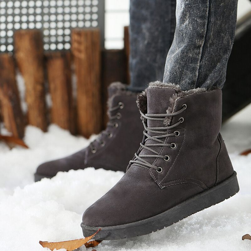 Women's Chic Warm Buckles Platform Snow Winter Boots