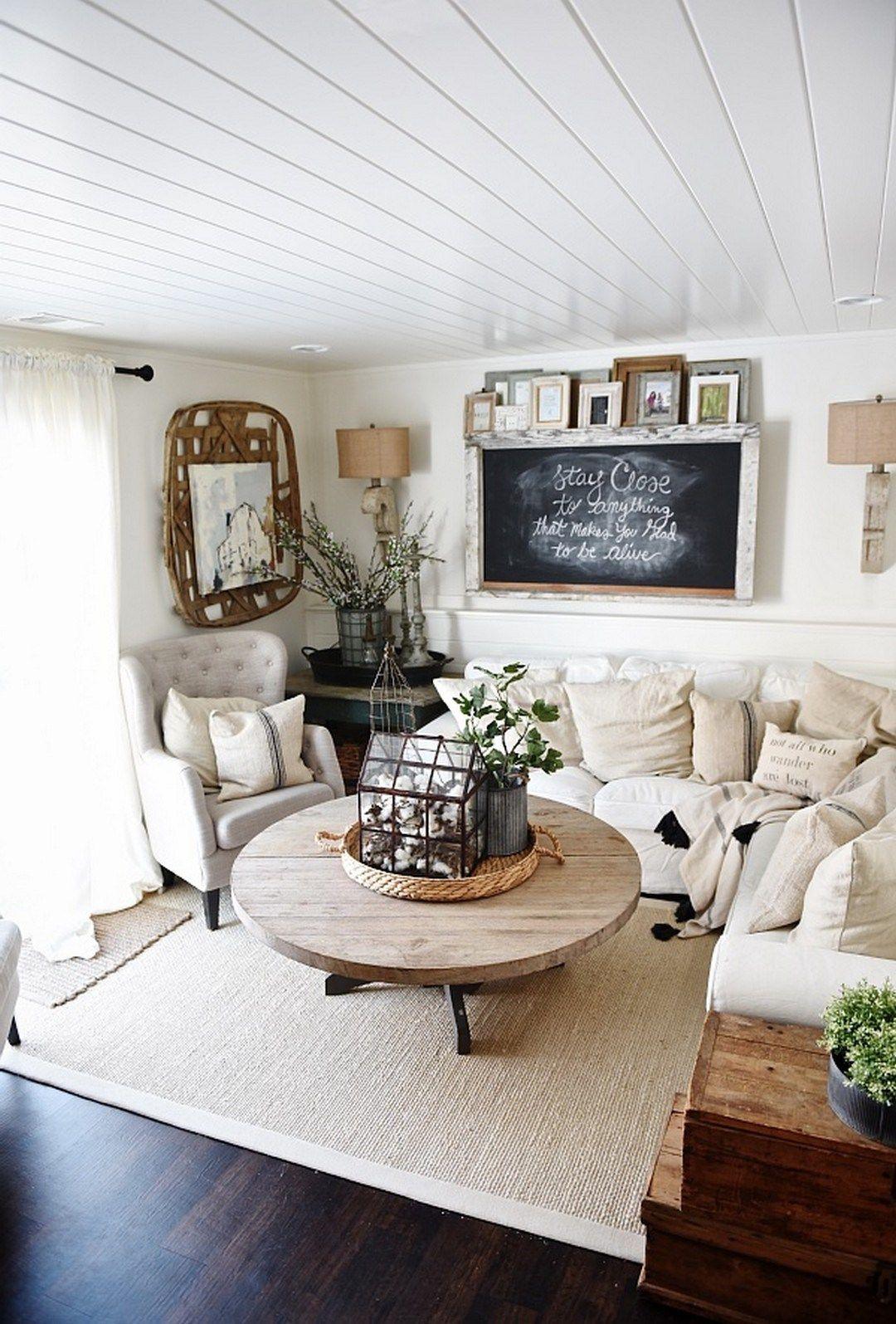99 DIY Farmhouse Living Room Wall Decor And Design Ideas 35