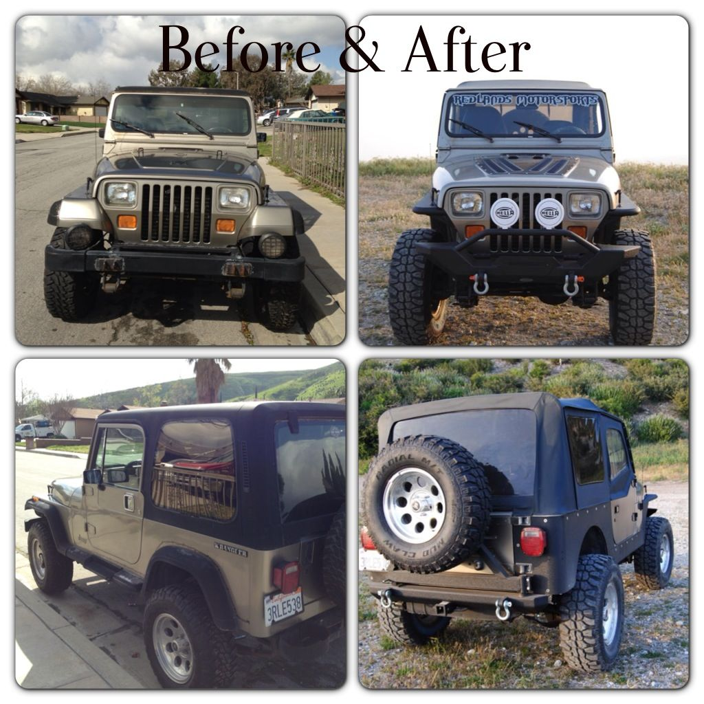 39 89 jeep yj before after jeeps pinterest jeeps jeep life and jeep stuff. Black Bedroom Furniture Sets. Home Design Ideas