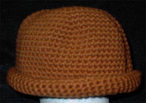 Crocheted Rolled Edge Watchcap Pattern   Free Crochet Hat Patterns ...
