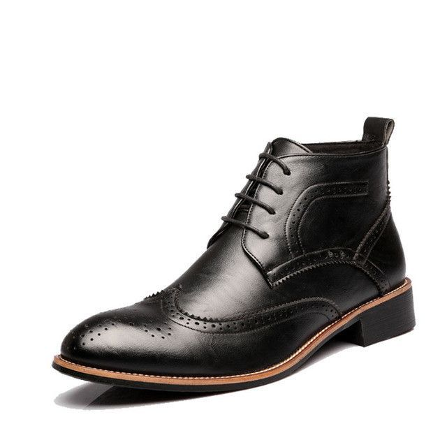 British Mens Casual Lace Up Boots