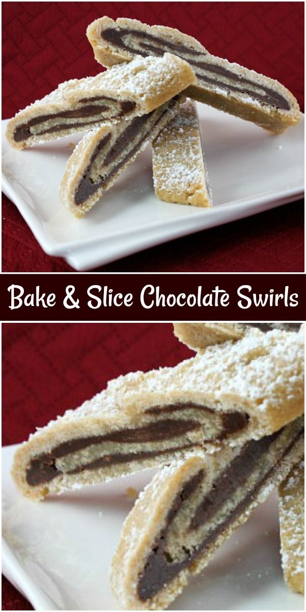 Bake and Slice Chocolate Swirls #sliceandbakecookies