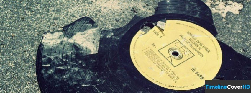 Broken Vintage Vinyl Facebook Cover Timeline Banner For Fb