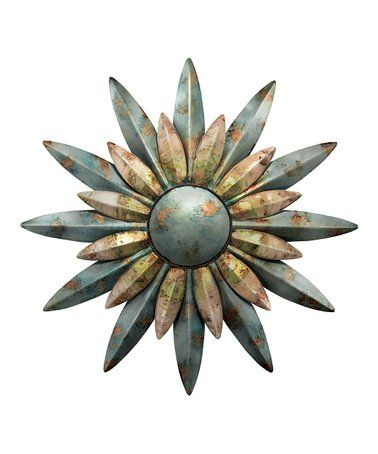 Aqua Sunburst Outdoor Wall Art Zulilyfinds