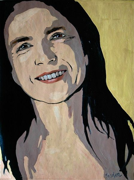 Anna - oil on paper on wood - 37x50cm - SOLD