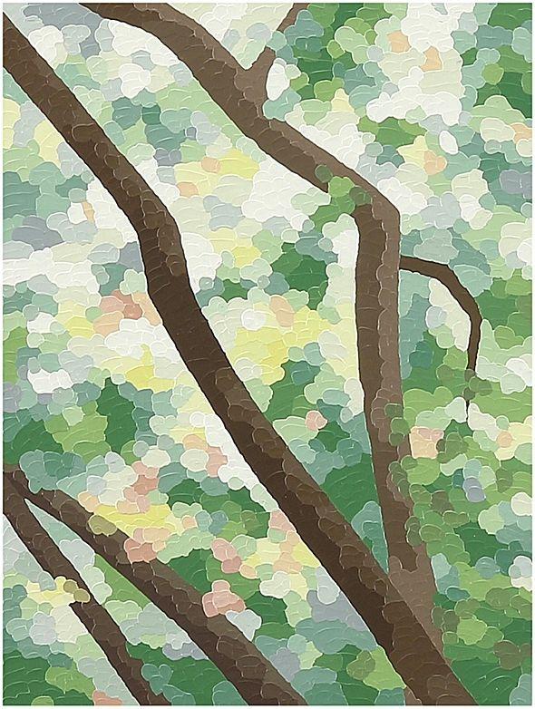 """Elaine Coombs Faith 3 Acrylic on panel. 9"""" x 12"""" San Francisco, California"""