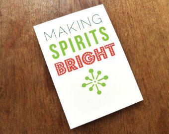 Printable Christmas Card - Making Spirits Bright