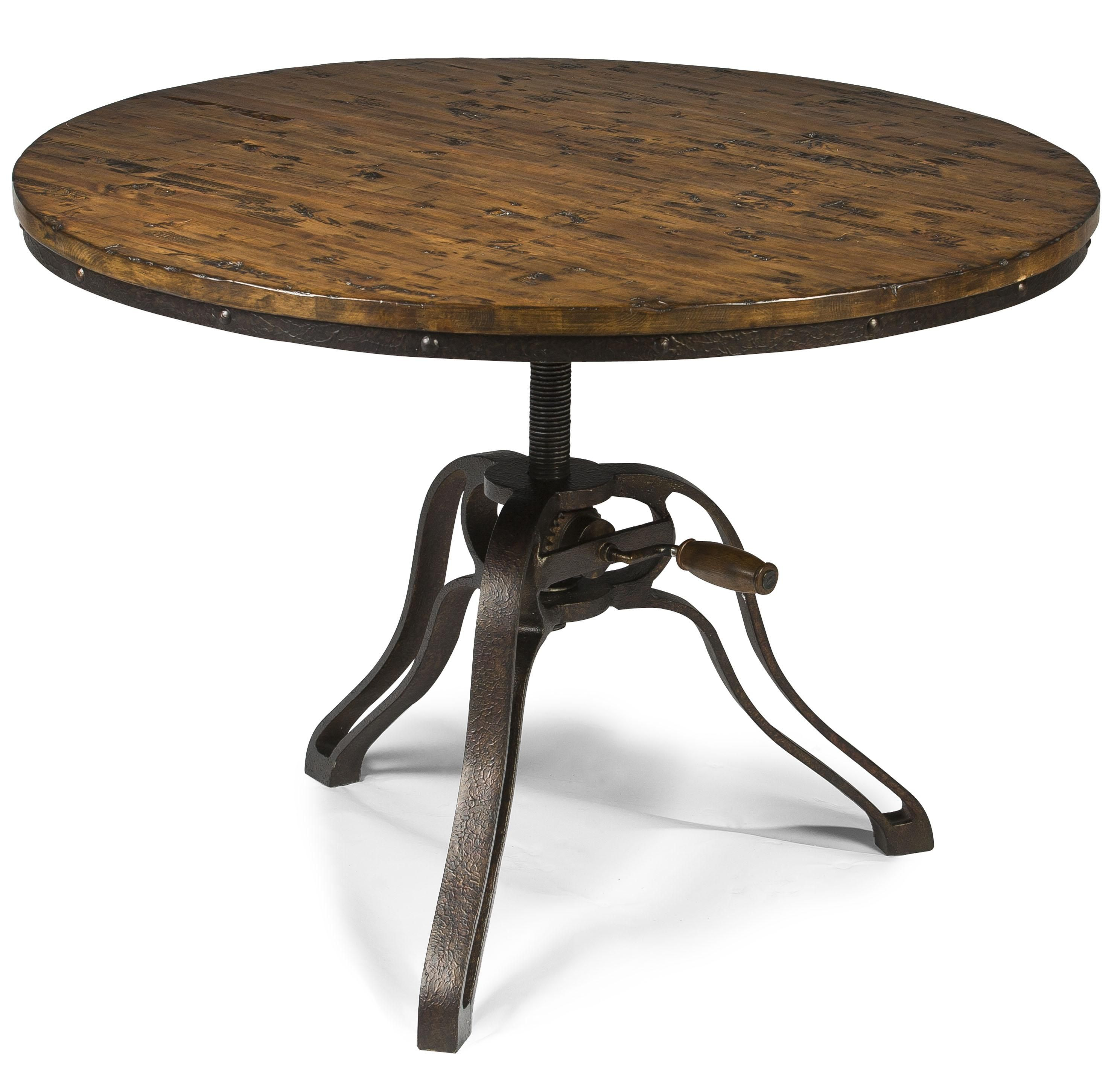 Industrial Style Round Cocktail Table With Adjustable Height By Antique Coffee Tables Round Cocktail Tables Stylish Coffee Table