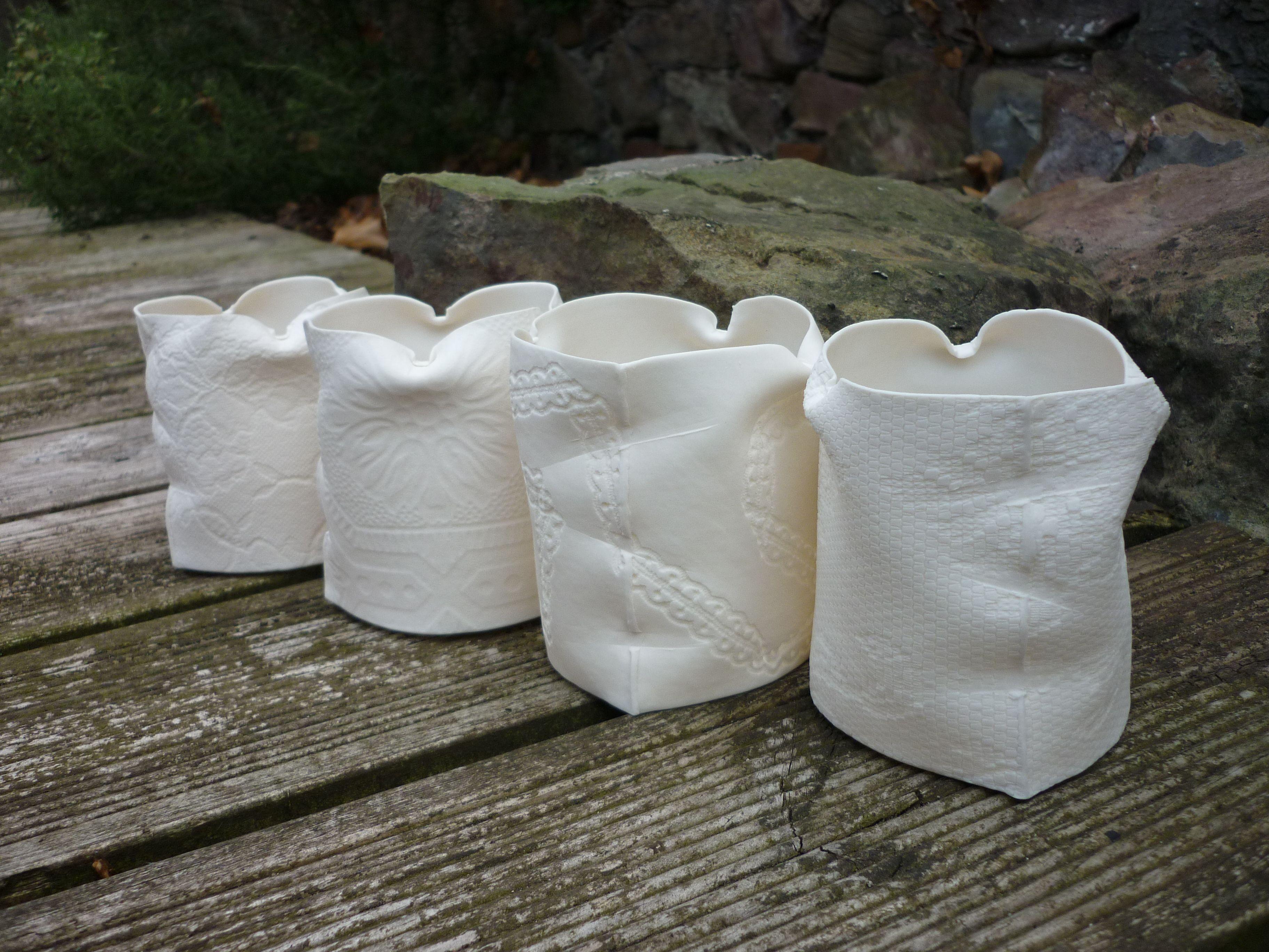 Unlit Porcelain Tea Light Holders Louise Hall Tea Lights Ceramic Light Tea Light Holder
