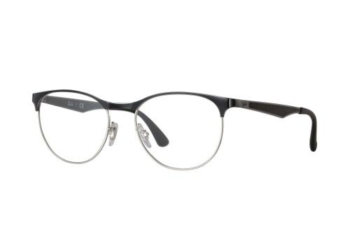 326f060a23 Ray-Ban Optical 0RX6365 2861 53 Silver Top On Black Active Lifestyle  Eyeglasses