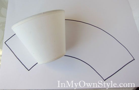 How to make chandelier shade covers using scrapbook paper in my how to make chandelierlamp shade covers aloadofball Gallery