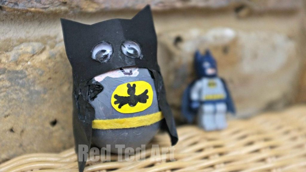 Egg Decorating Ideas My Son Decided That He Wanted To Make A Batman And