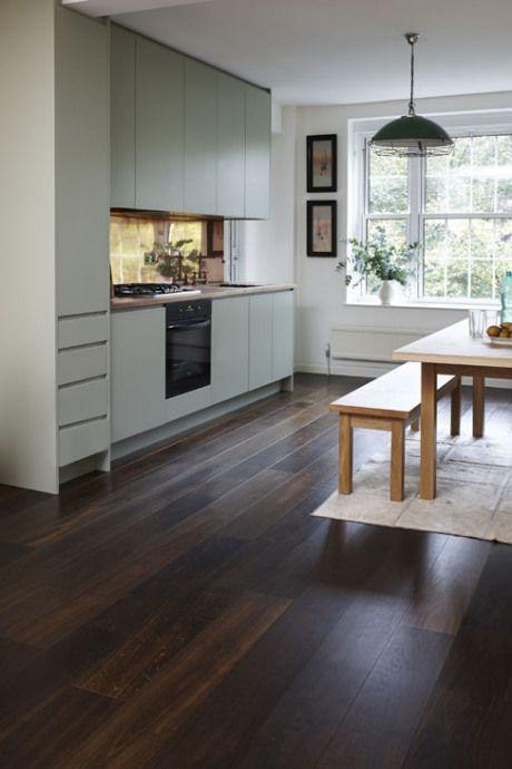 Homeowners Junckers Engineered Wood Floors Kitchen Flooring Dark Wooden Floor