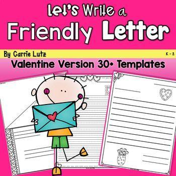 Friendly Letter Templates Valentine Version Gratitude Letters