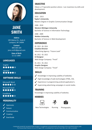 create a online resume