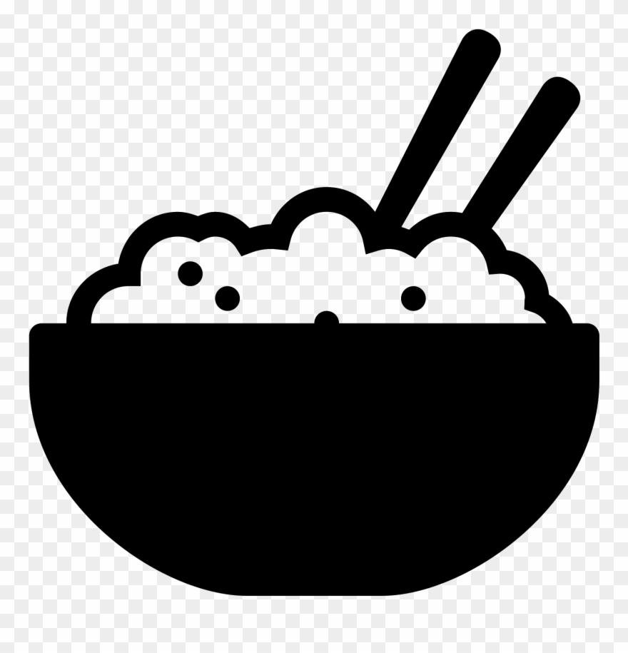 Rice Bowl Filled Icon Rice Bowl Icon Png Clipart 1610274 Rice Bowls Clip Art Bowl