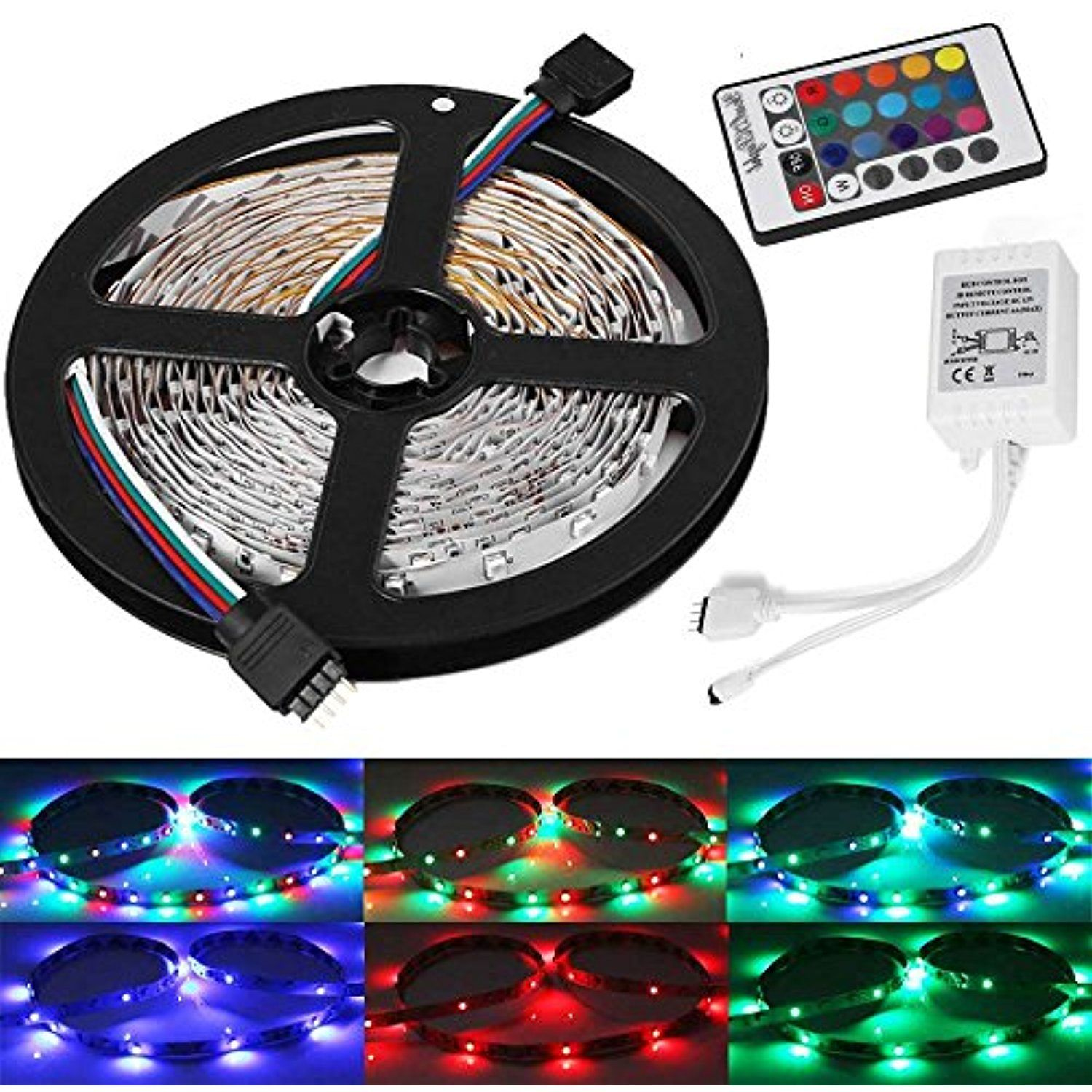 Led Light Strips With Remote Youoklight Yk0416 164Ft5M Flexible Rgb Led Light Strips With 24Key