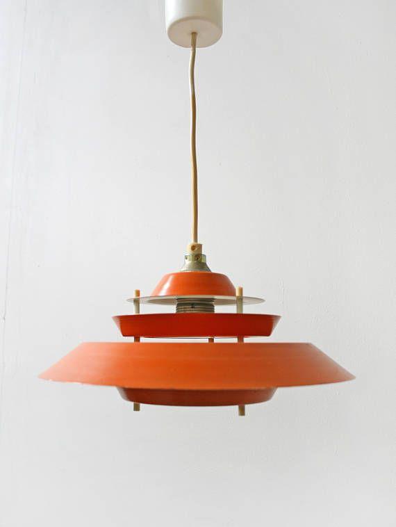 Unique Vintage Orange White Multi Disc Aluminium Scandinavian Style Pendant Lamp Retro Round UFO Space Age Minimalist Mid Century Modern MCM Loft Unique - Amazing mid century ceiling light Plan
