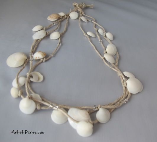collier bracelet coquillage